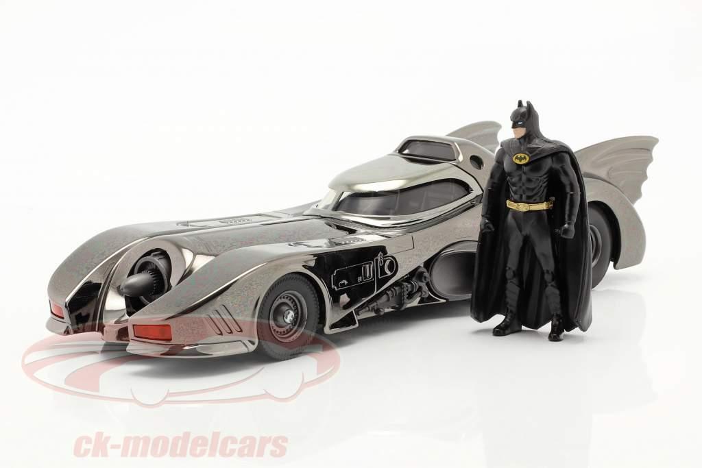 Batmobile avec chiffre Film Batman (1989) le noir Chromé 1:24 Jada Toys