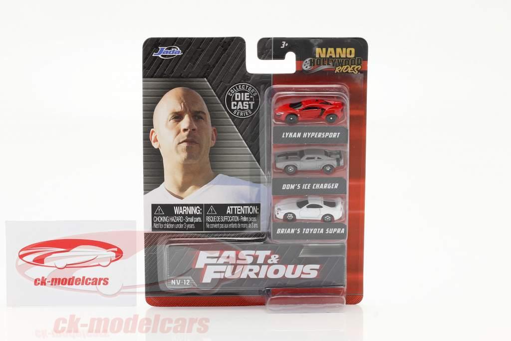 3-Car Set Nano Cars Fast & Furious Jada Toys
