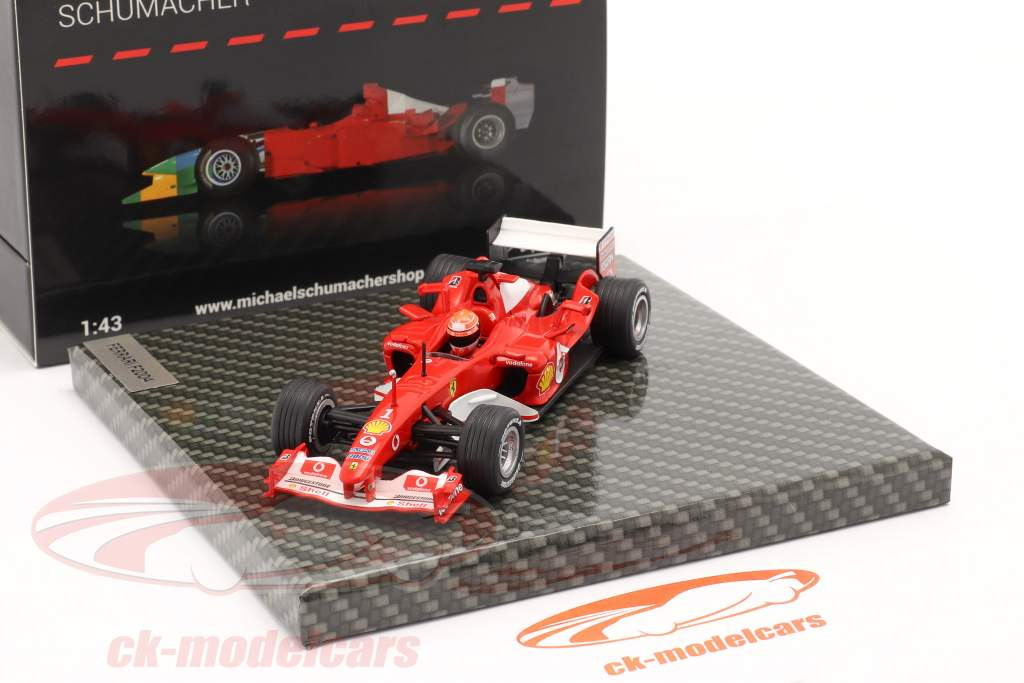 M. Schumacher Ferrari F2004 #1 vinder Japansk GP formel 1 Verdensmester 2004 1:43 Ixo