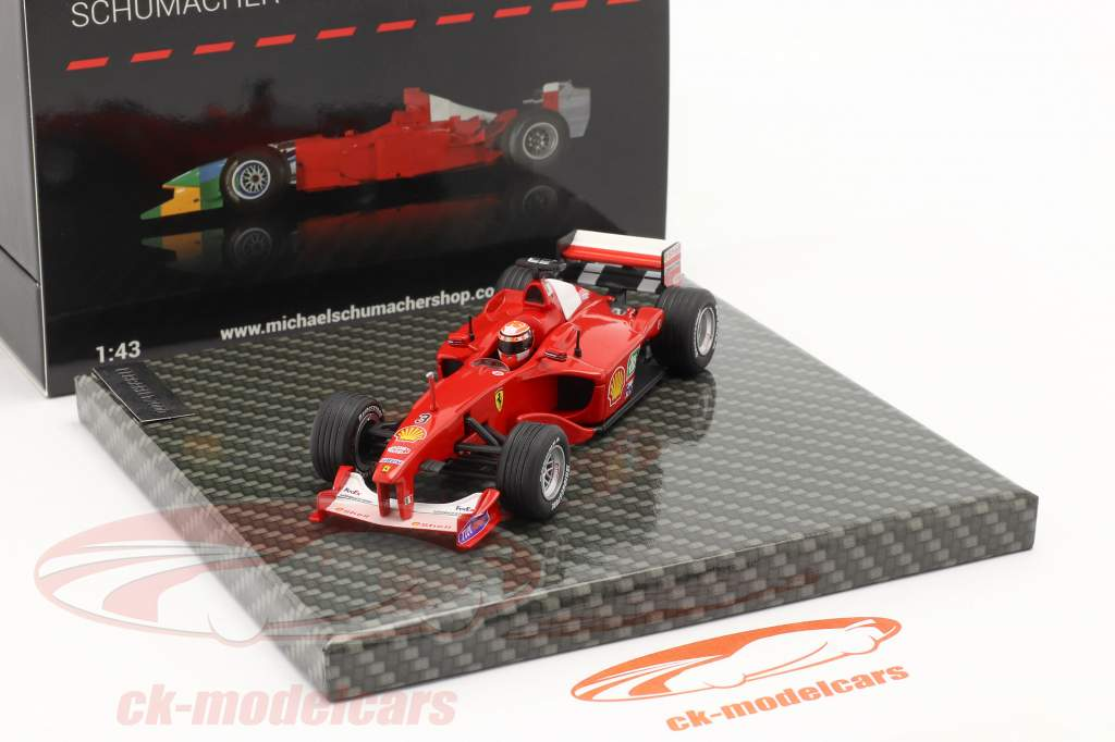 M. Schumacher Ferrari F1-2000 #3 vencedora europeu GP Fórmula 1 Campeão mundial 2000 1:43 Ixo
