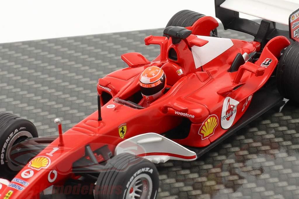 M. Schumacher Ferrari F2004 #1 ganador japonés GP fórmula 1 Campeón mundial 2004 1:43 Ixo