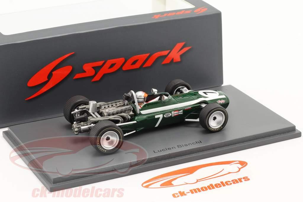 Lucien Bianchi Cooper T86B #7 3ª Mônaco GP Fórmula 1 1968 1:43 Spark