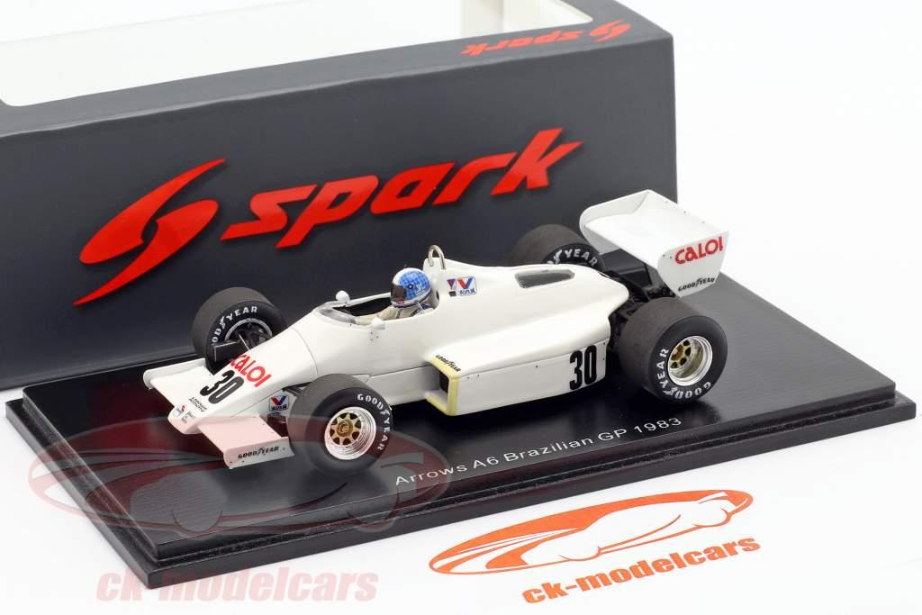 Chico Serra Arrows A6 #30 brésilien GP formule 1 1983 1:43 Spark