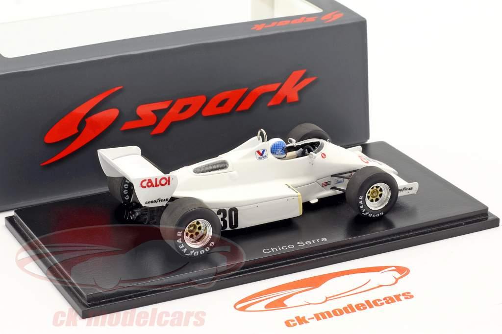 Chico Serra Arrows A6 #30 brasileño GP fórmula 1 1983 1:43 Spark