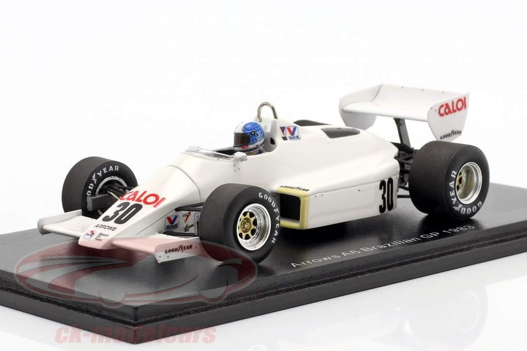 Chico Serra Arrows A6 #30 Brasiliansk GP formel 1 1983 1:43 Spark