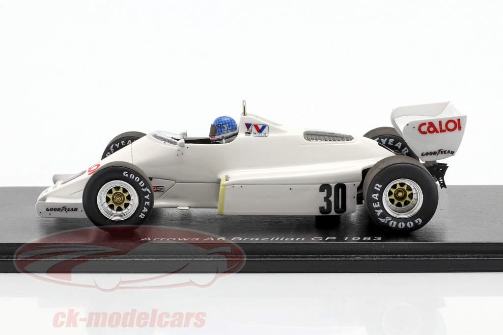 Chico Serra Arrows A6 #30 Brasilienn GP Formel 1 1983 1:43 Spark