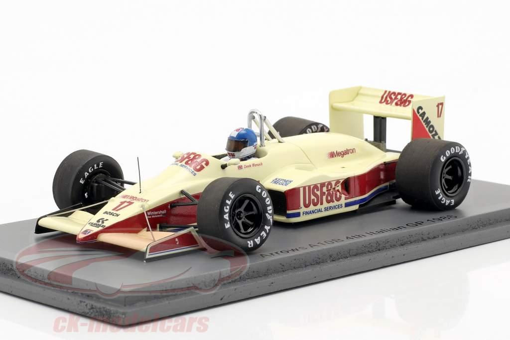 Derek Warwick Arrows A10B #17 4e italien GP formule 1 1988 1:43 Spark