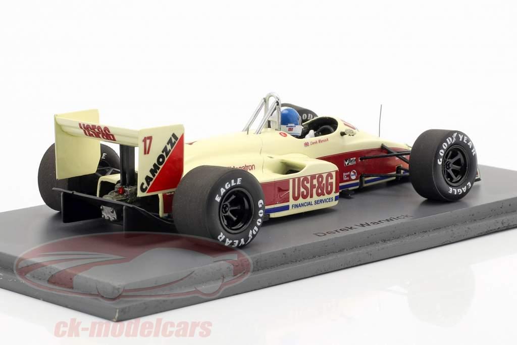 Derek Warwick Arrows A10B #17 4. plads Italiensk GP formel 1 1988 1:43 Spark