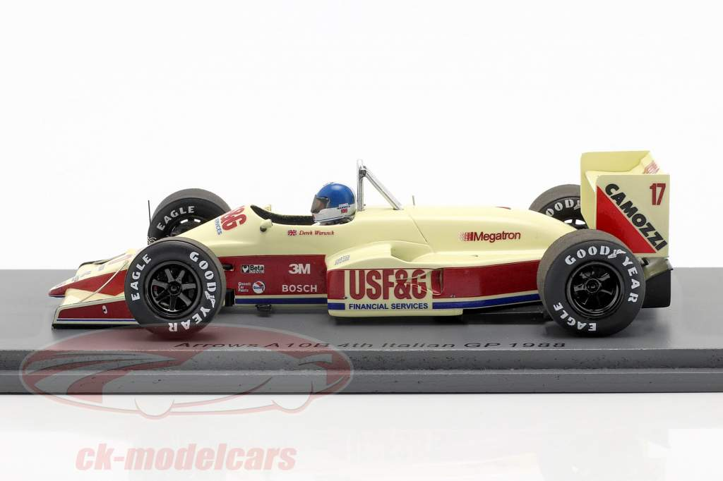Derek Warwick Arrows A10B #17 4° italiano GP formula 1 1988 1:43 Spark