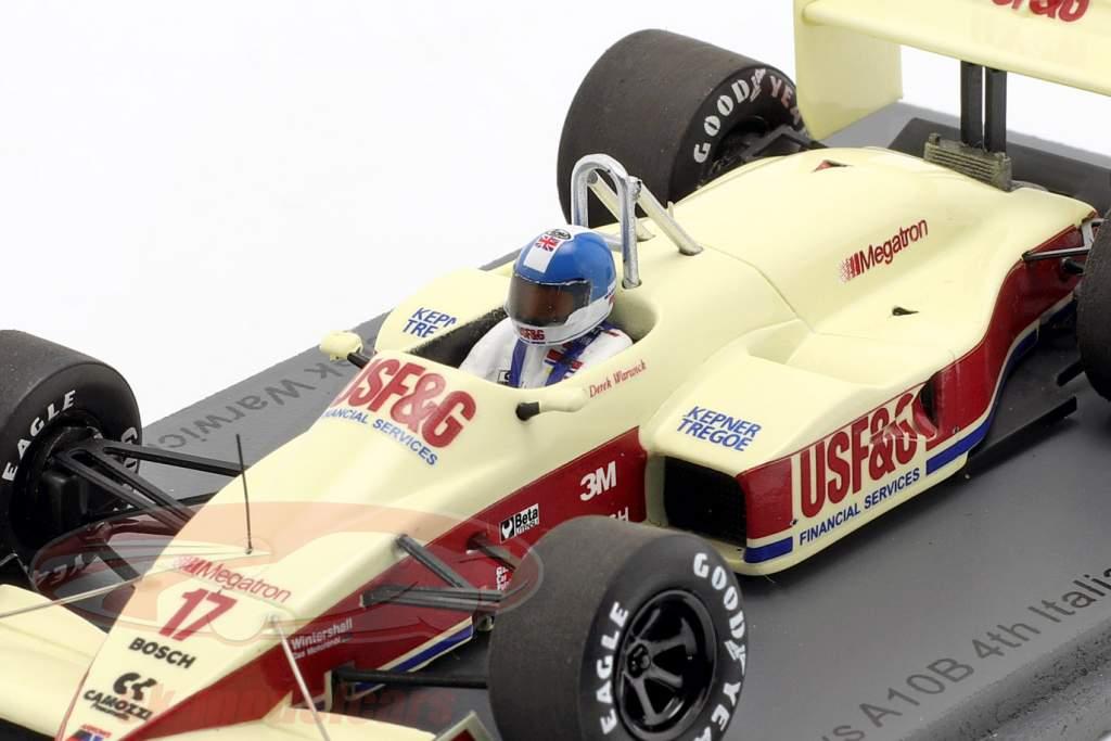 Derek Warwick Arrows A10B #17 Cuarto italiano GP fórmula 1 1988 1:43 Spark
