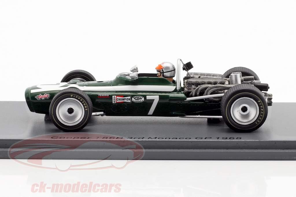 Lucien Bianchi Cooper T86B #7 Tercero Mónaco GP fórmula 1 1968 1:43 Spark