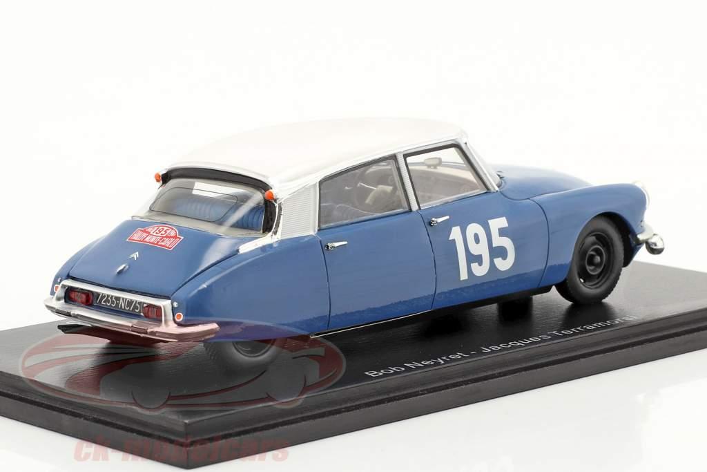 Citroen DS19 #195 5. plads Rallye Monte Carlo 1963 Neyret, Terramorsi 1:43 Spark