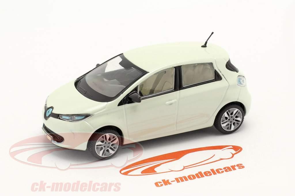 Renault Zoe Año de construcción 2013 blanco metálico 1:43 Norev