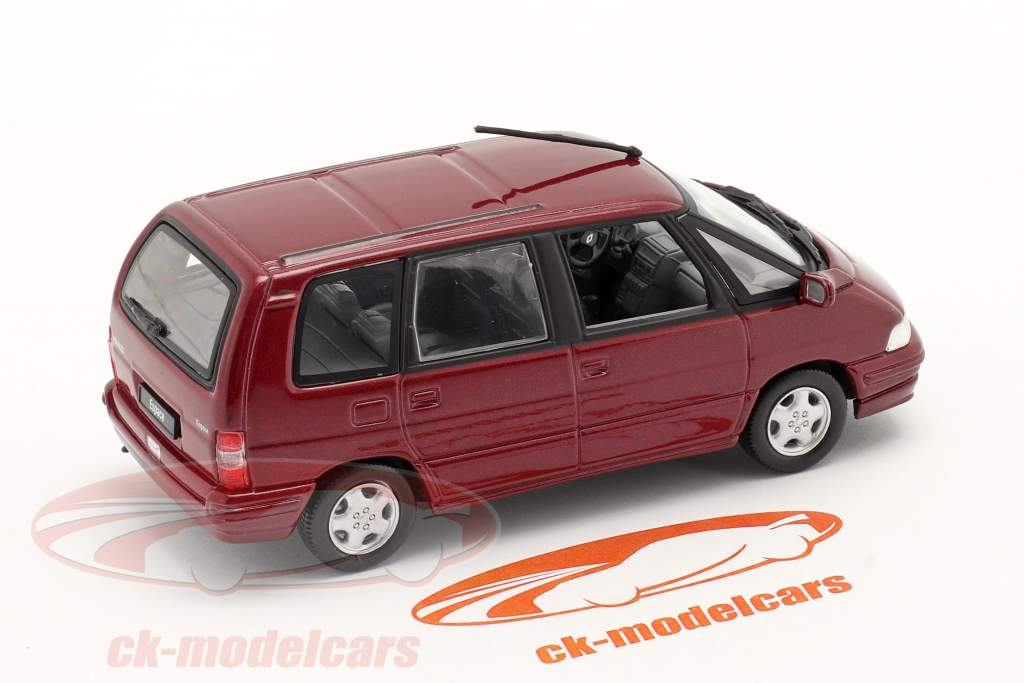Renault Espace Baujahr 1991 malaga rot 1:43 Norev