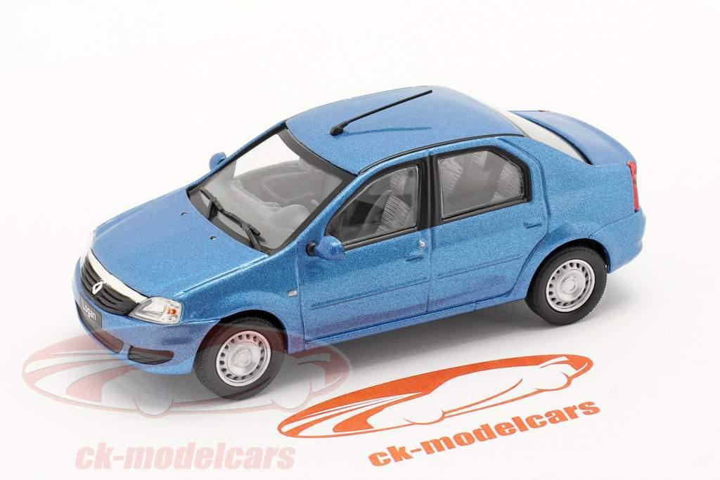 Renault Logan bouwjaar 2005 blauw metalen 1:43 Norev