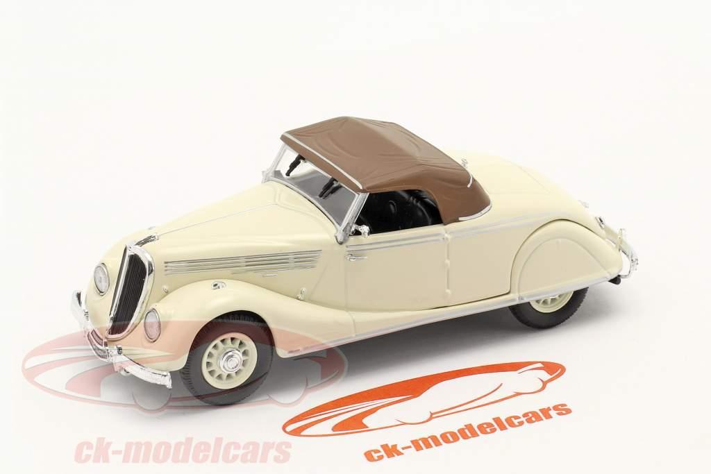 Renault Viva Grand Sport Anno di costruzione 1935-1939 crema bianca / Marrone 1:43 Norev