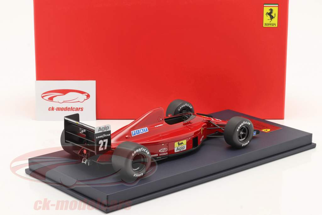 Nigel Mansell Ferrari 640 #27 gagnant Hongrie GP formule 1 1989 1:18 LookSmart
