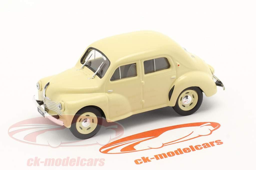 Renault 4CV Ano de construção 1947 creme Branco 1:43 Norev
