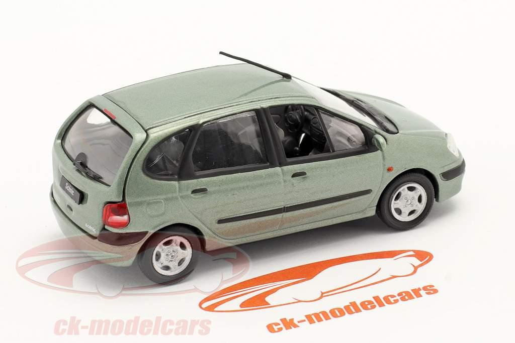 Renault Scenic Ano de construção 1999 verde Cinza metálico 1:43 Norev