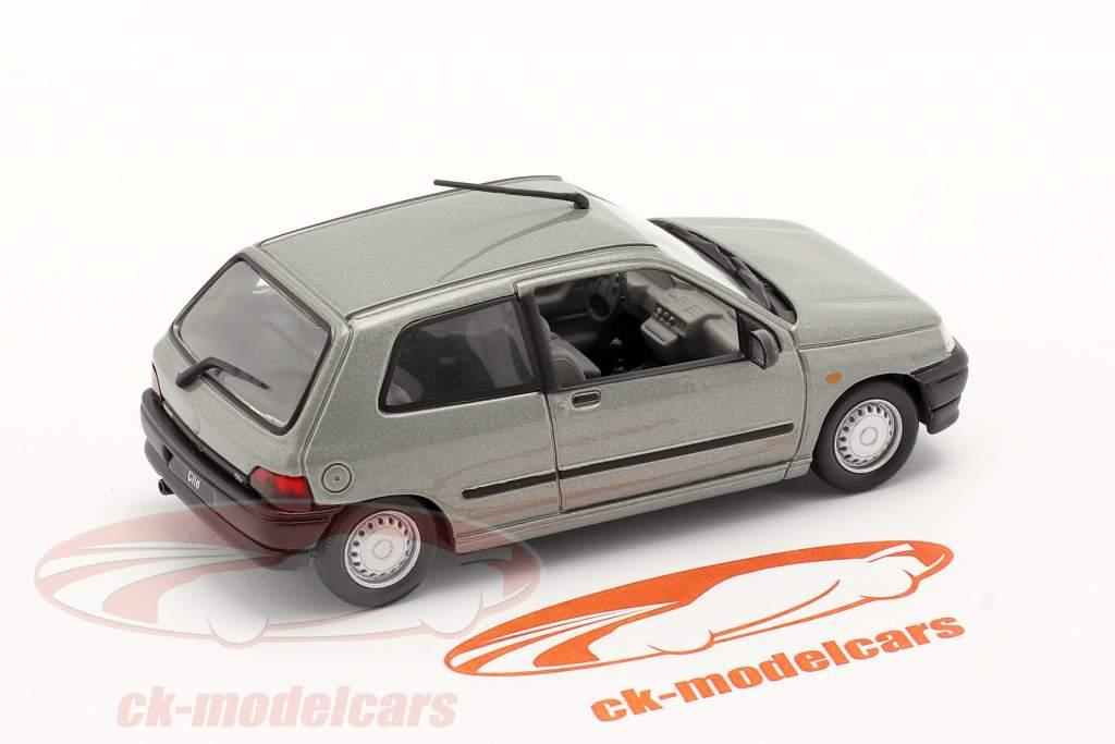 Renault Clio bouwjaar 1990 zilver metalen 1:43 Norev