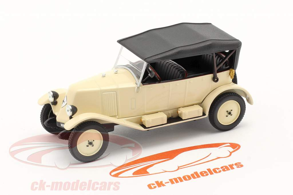 Renault 6CV Tipo NN Torpedo anno 1925 bianco crema / nero 1:43 Norev