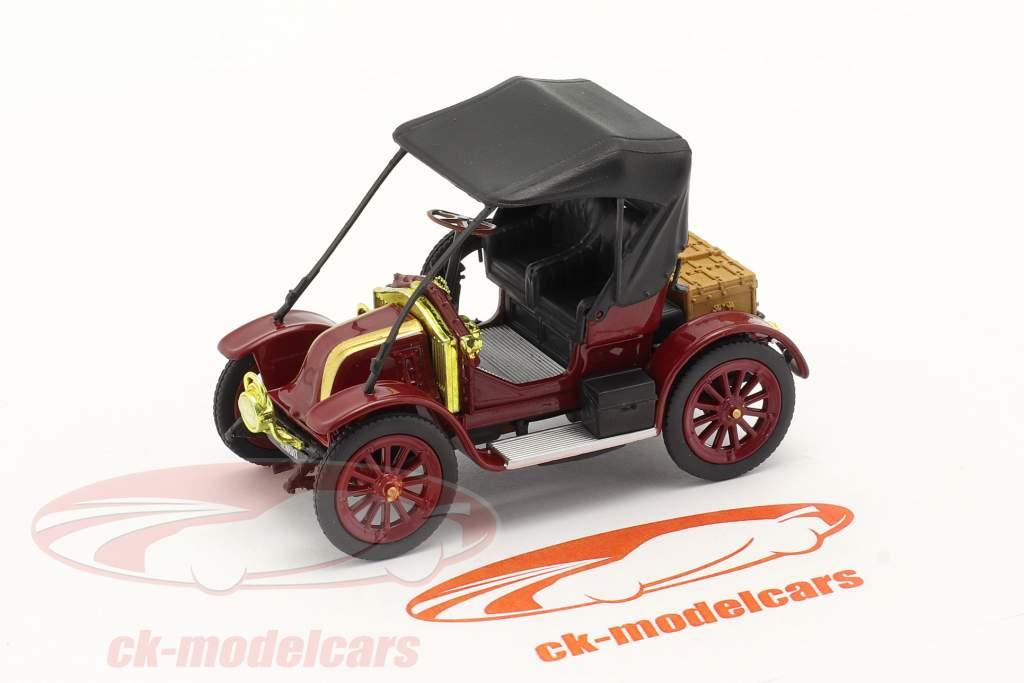 Renault Type AX bouwjaar 1908-1913 donker rood / zwart 1:43 Norev