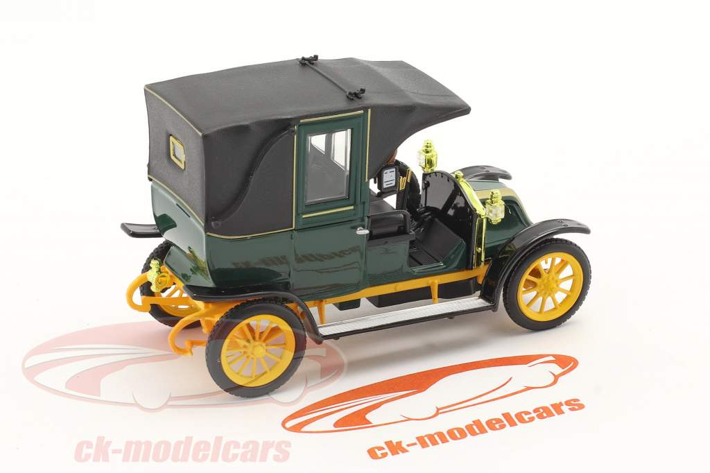 Renault Type AG Byggeår 1905-1914 grøn / sort / gul 1:43 Norev