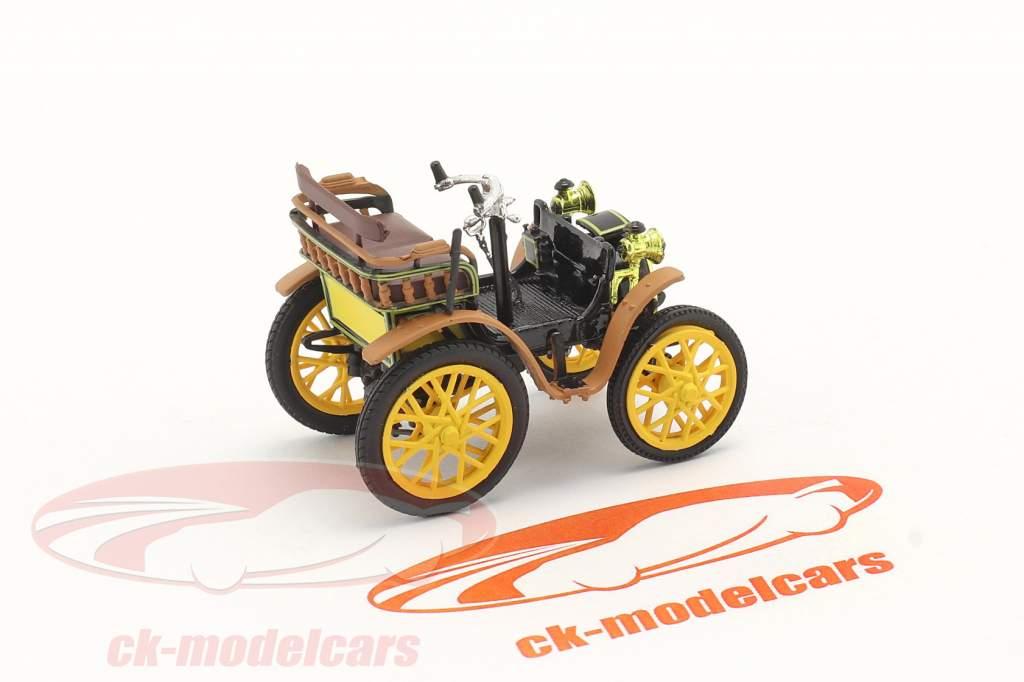 Renault Voiturette Type A Ano de construção 1899 Preto / Castanho / amarelo 1:43 Norev