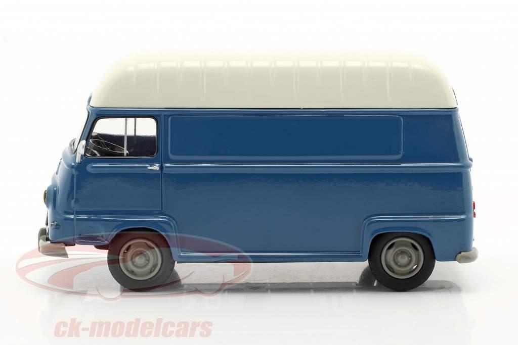 Renault Estafette Van Byggeår 1959 blå / hvid 1:43 Norev