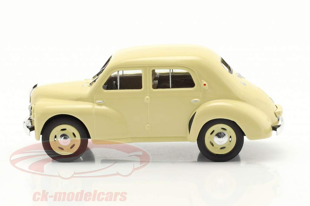 Renault 4CV Año de construcción 1947 crema blanco 1:43 Norev