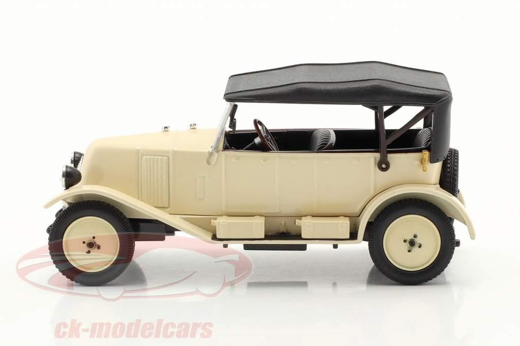 Renault 6CV Type NN Torpedo año 1925 blanco crema / negro 1:43 Norev