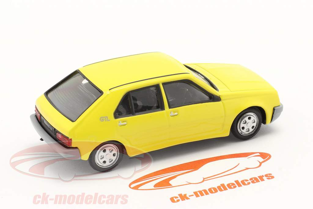 Renault 14 (R14) Année de construction 1976-1982 jaune 1:43 Norev