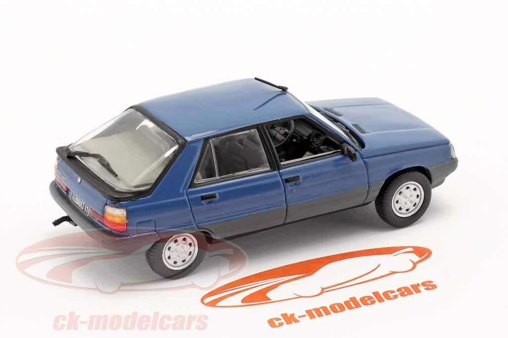 Renault 11 (R11) year 1981 dark blue / black 1:43 Norev