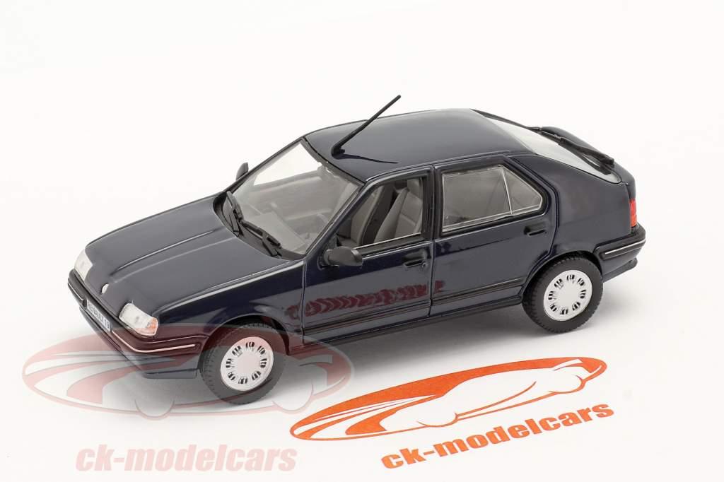 Renault 19 (R19) bouwjaar 1988 donkerblauw 1:43 Norev