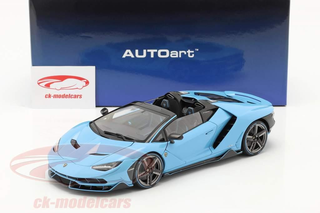 Lamborghini Centenario Roadster Année de construction 2016 Bleu clair 1:18 AUTOart