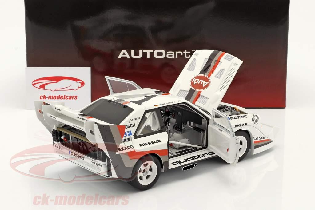 Audi Sport quattro S1 E2 #1 Vencedora Pikes Peak 1987 Walter Röhrl 1:18 AUTOart