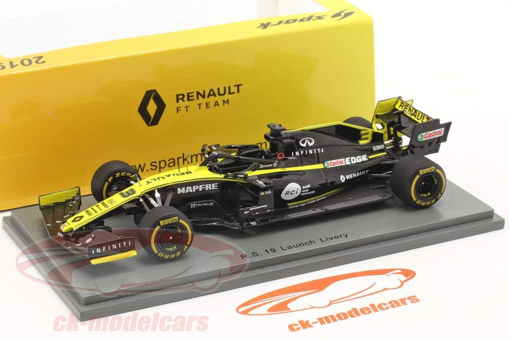 Daniel Ricciardo Renault R.S. 19 #3 Launch Version Fórmula 1 2019 1:43 Spark