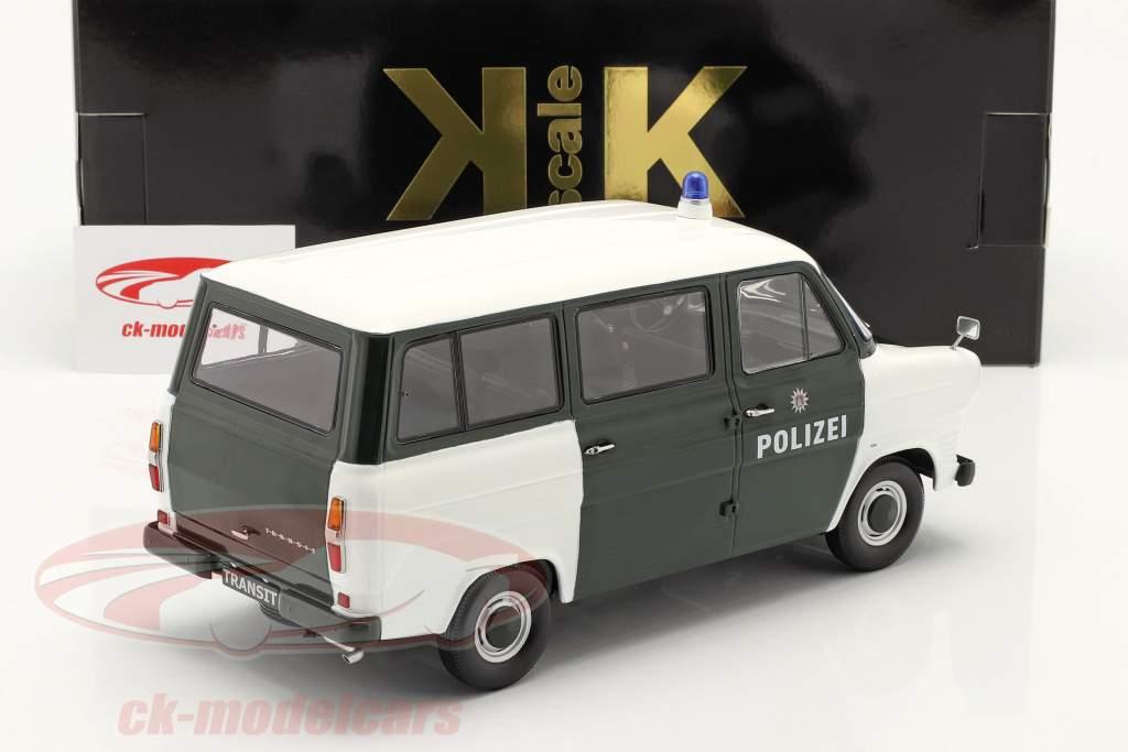 Ford Transit Bus politie Hamburg bouwjaar 1965 donkergroen / wit 1:18 KK-Scale