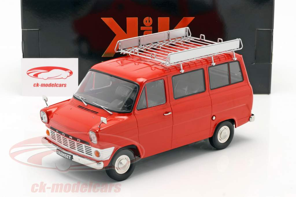 Ford Transit Bus bouwjaar 1965 rood 1:18 KK-Scale