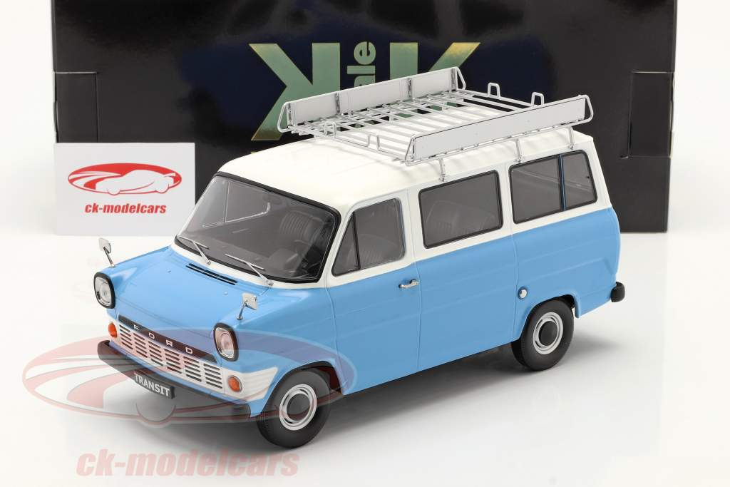 Ford Transit Bus Année de construction 1965 Bleu clair / blanche 1:18 KK-Scale