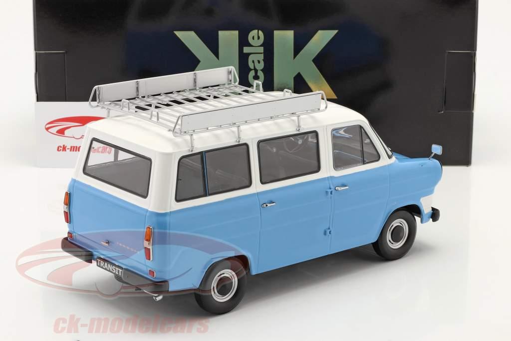 Ford Transit Bus Baujahr 1965 hellblau / weiß 1:18 KK-Scale