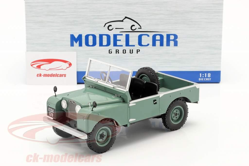 Land Rover Series I RHD ohne Verdeck Baujahr 1957 hellgrün 1:18 Model Car Group