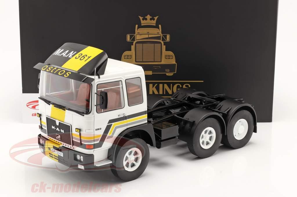 M.A.N. F8 22.361 Trekker bouwjaar 1978 wit / zwart 1:18 Road Kings