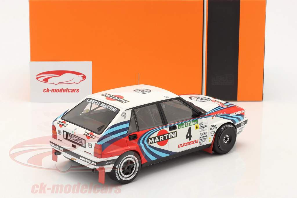 Lancia Delta Integrale 16V #4 2do Rallye Portugal 1990 Auriol, Occelli 1:18 Ixo