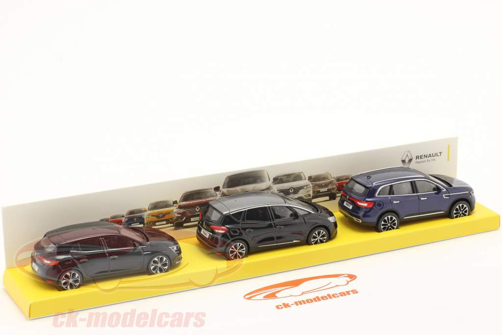 3-Car Set Renault Megane / Scenic / Koleos 1:64 Norev
