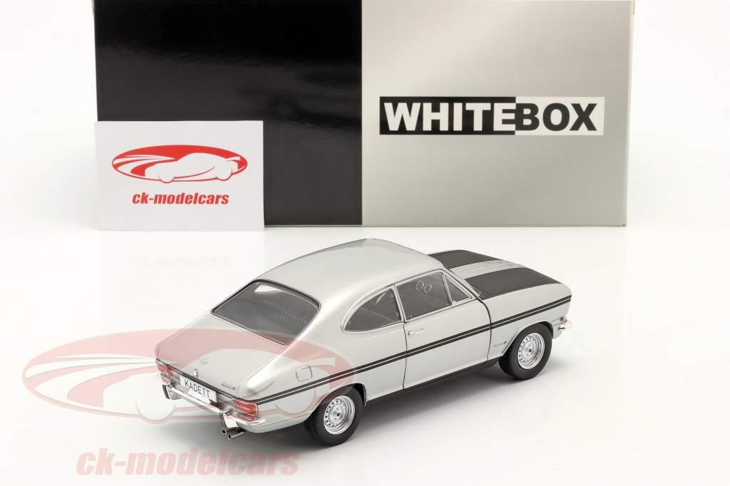 Opel Kadett B Rally silver / mat black 1:24 WhiteBox