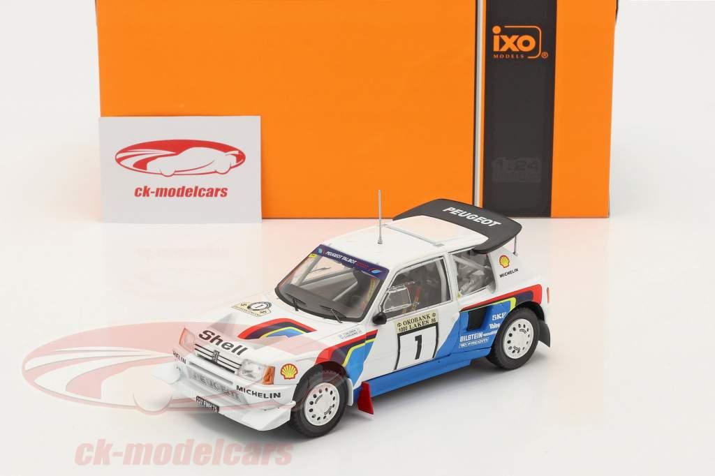 Peugeot 205 T16 E2 #1 Vencedora Rallye 1000 Lakes 1986 Salonen, Harjanne 1:24 Ixo