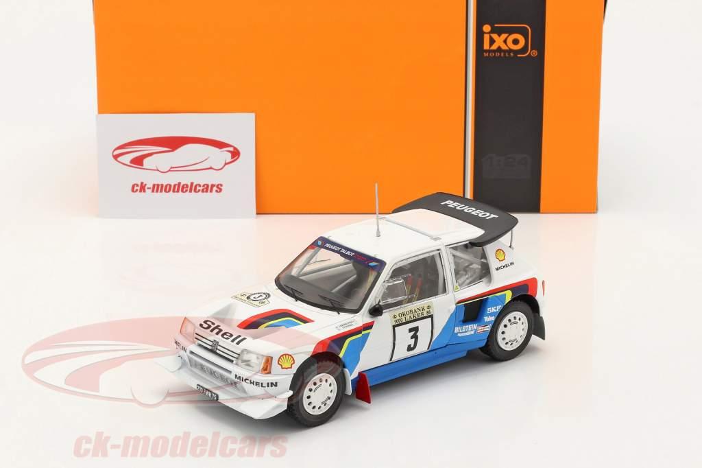 Peugeot 205 T16 E2 #3 2e Rallye 1000 Lakes 1986 Kankkunen, Piironen 1:24 Ixo