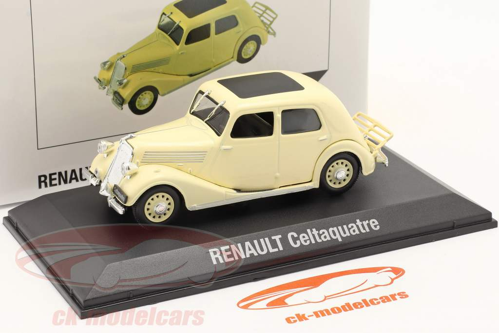 Renault Celtaquatre Année de construction 1934-1938 crème blanche 1:43 Norev