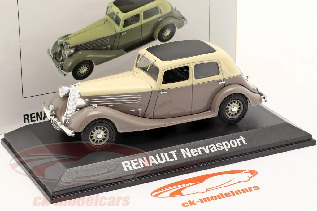 Renault Nervasport bouwjaar 1932-1935 bruin / beige 1:43 Norev